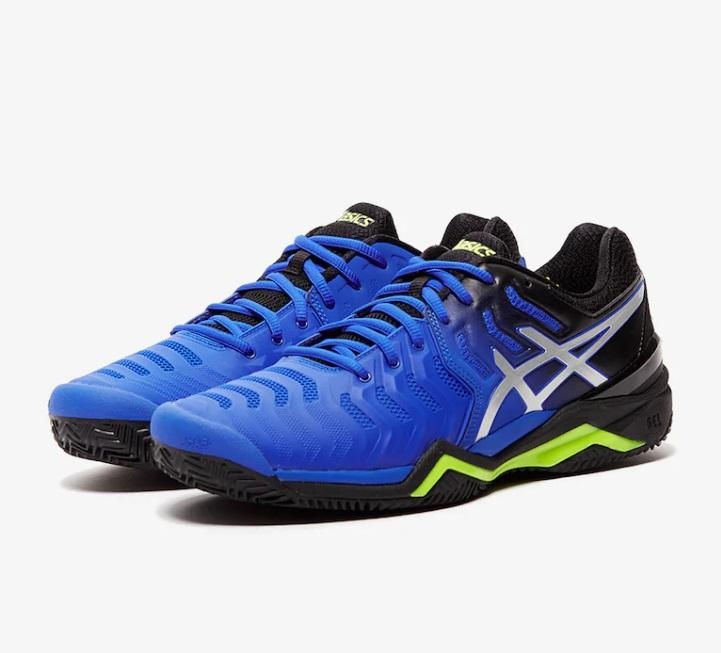 Giầy Tennis Asics Gel Resolution 7 ( xanh / đen )