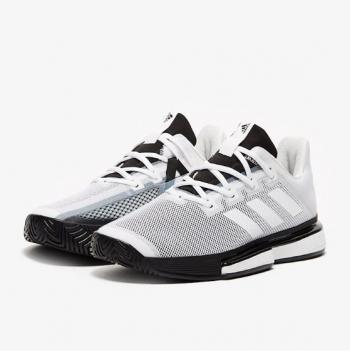 Giầy Tennis Adidas SoleMatch Bounce Trắng/Đen