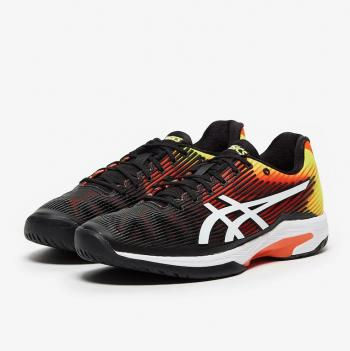 Giầy Tennis Asics Solution Speed FF Đen/Cam