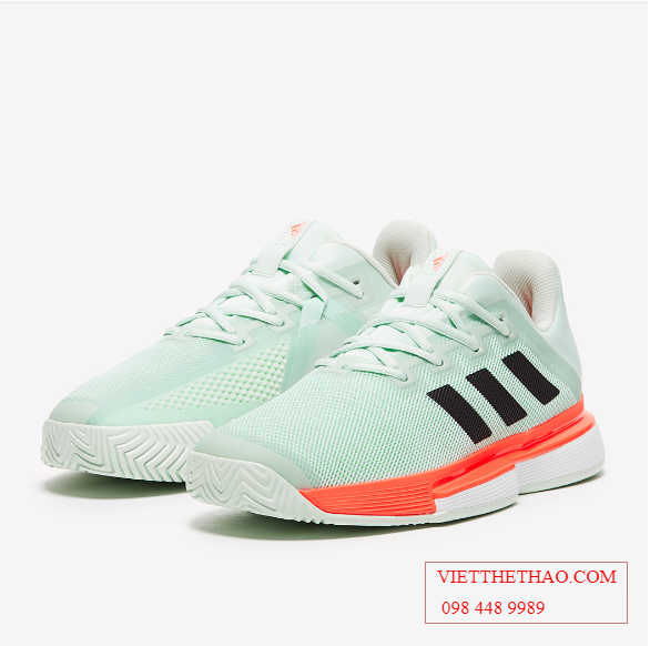 Giầy Tennis Adidas SoleMatch Bounce Xanh / Cam