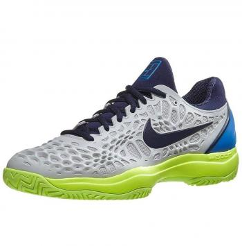 Giầy Tennis Nike Zoom Cage 3 Ghi / Xanh