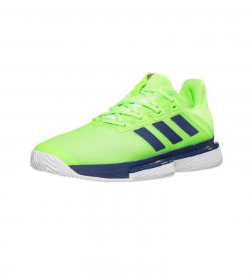 Giầy Tennis Adidas SoleMatch Bounce Green Blue