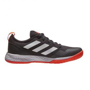 Giầy Tennis Adidas Court Control Black/White/Solar Red
